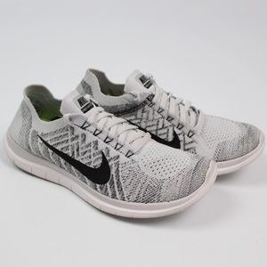 Nike Free 4.0 Flyknit running shoes gray white